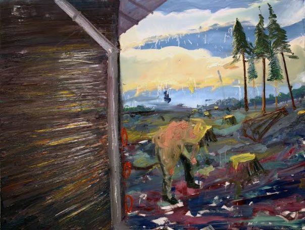 Akos Ezer painting