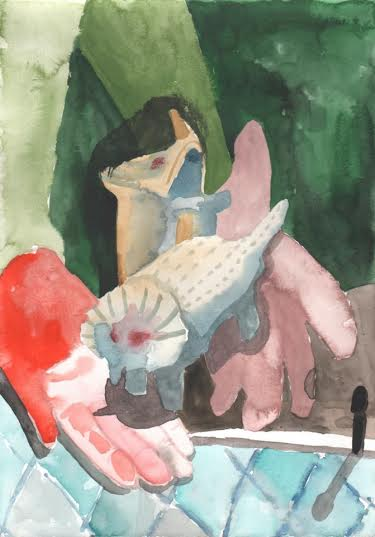 Bas van der Linde painting