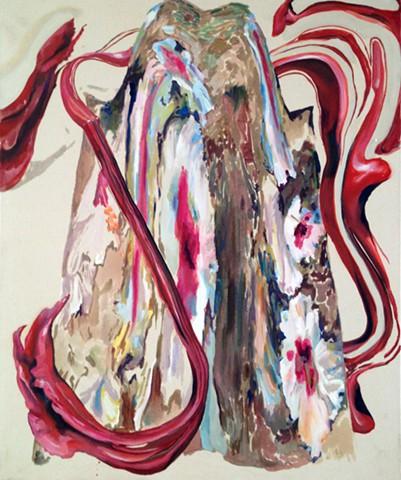 Rachel Rossin painting